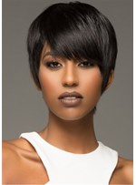 Boy Cut Natural Straight Synthetic Hair Lace Front Wig