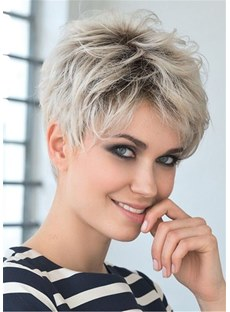 Boy Cut Short Pixie Cut Human Hair Full Lace Wigs