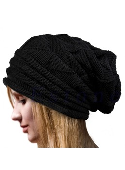 Pure Colour Fashion Winter Women Hat