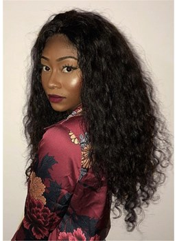 Long African American Kinky Curly Synthetic Hair Wigs