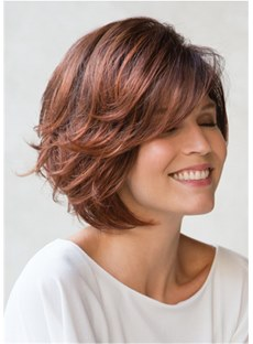 Short Bob Hairstyle Wavy Synthetic Hair Women Wigs