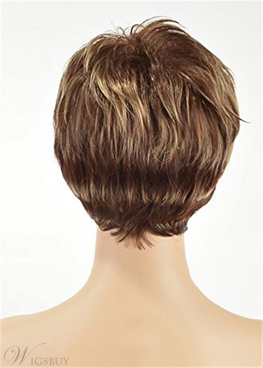 Short Cut Choppy Layered Human Hair Capless Wigs