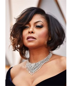 Taraji P. Henson Hairstyle Short Bob Synthetic Hair Women Wig