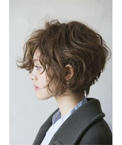 Short Bob Wavy Human Hair Women Wigs 12 Inches
