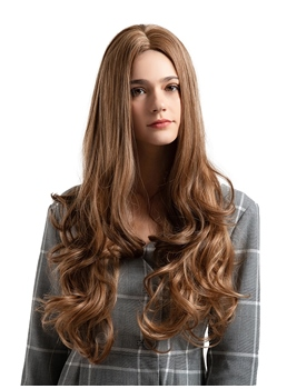 Long Middle Parted Big Curly Synthetic Hair Women Wig