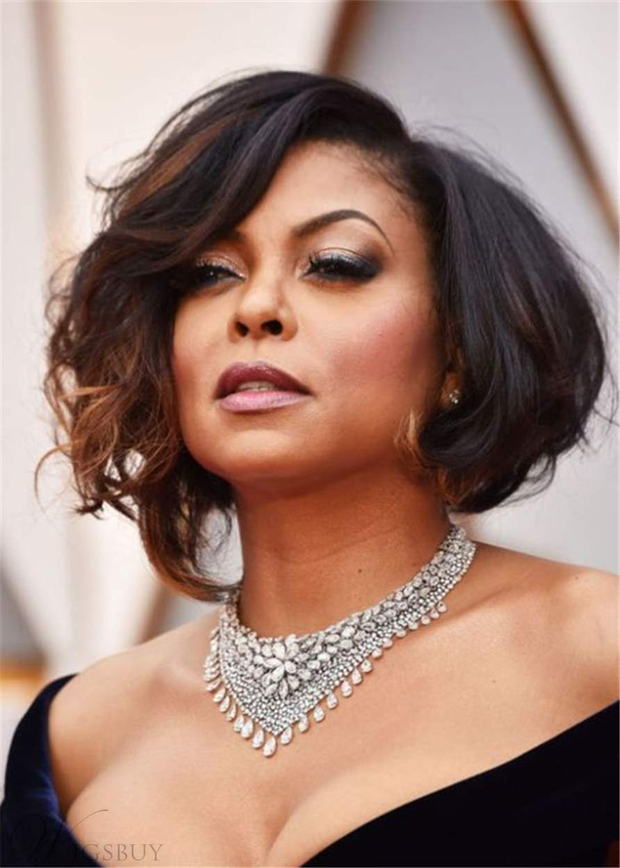 Miraculous Taraji P Henson Hairstyle Short Bob Synthetic Hair Women Wig M Natural Hairstyles Runnerswayorg