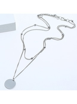 Silver Round Fashion Necklace