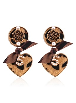 Leopard Rose Romance Earrings