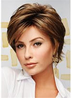 Short Cut Layler Synthetic Hair Capless Women Wig 10 Inces