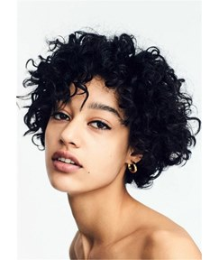 Short Kinky Curly Synthetic Hair Women Capless Wig
