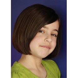 Bob Type Human Hair With Bangs Kid Wig For Girl