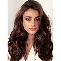 One Side Parted Loose Wave Human Hair Capless Wig