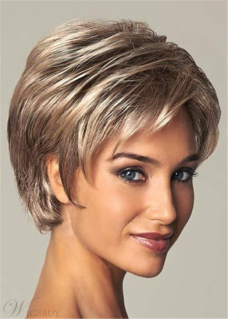 Short Layered Synthetic Capless Black Women Wigs