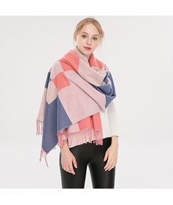 Colour Block Winter Warm Scarf For Women