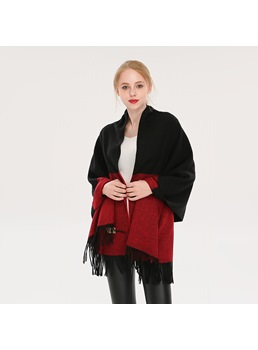 Colour Matching Winter Warm Scarf For Women