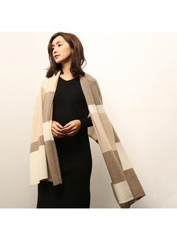British Colour Block Cashmere Scarf