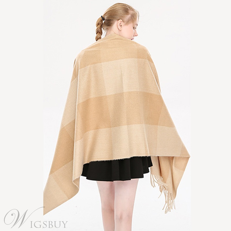 Colour Block Cashmere Scarf For Women