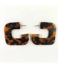 Fashion Amber Print Earrings For Women