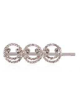 Dimante Retro Letter Smiling Face Hair Accessories