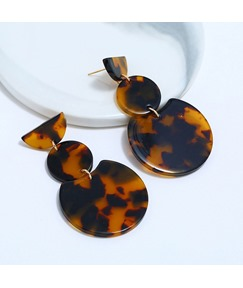 Fashion Amber Leopard Print Earrings