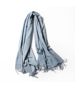 Check Imitation Cashmere Warm Scarf