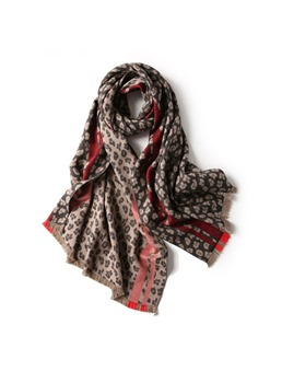 Leopard Print Imitation Winter Warm Scarf