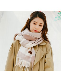 Color Matching Imitation Cashmere Warm Scarf