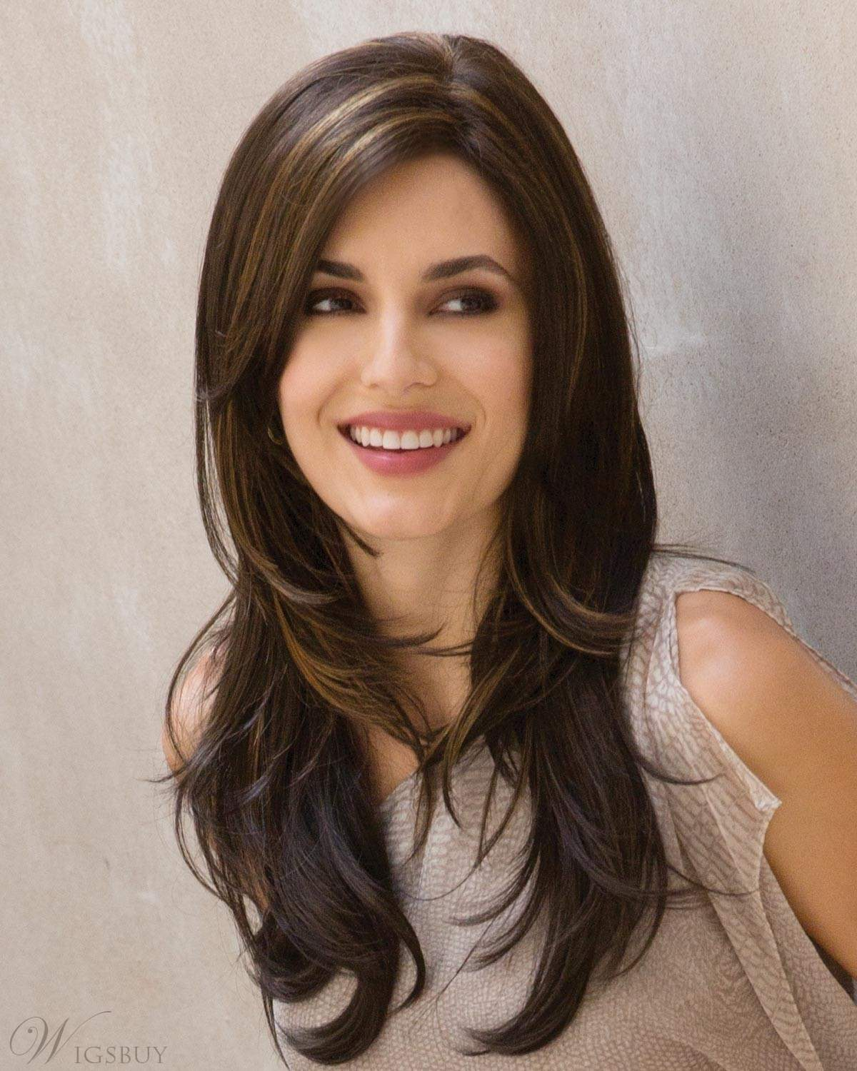 Long Layered Wavy Capless Wigs Synthetic Hair 26 Inches