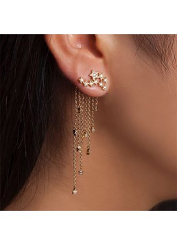Star Tassel Romantic Earrings