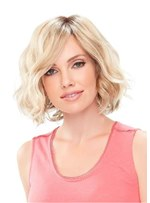 Layered Medium Loose Wave Synthetic Hair Capless Wigs 12 Inches