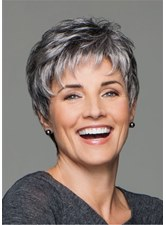 Short Choppy Layered Human Hair Lace Front Cap Wigs