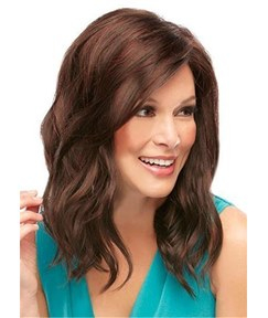 Natural Long Wavy Human Hair Capless Wigs 18 Inches
