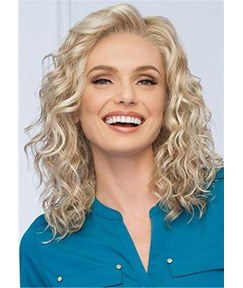 Women Medium Wavy Synthetic Capless Wigs 14 Inches