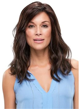 Curly Shoulder Length Side Swept Synthetic Hair Capless Wigs 14 Inches