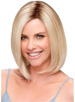 Straight Bob Medium Synthetic Hair Capless Wigs 10 Inches