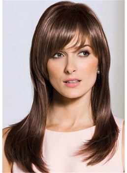 Middle Length Straight Synthetic Hair Capless Wigs 20 Inches