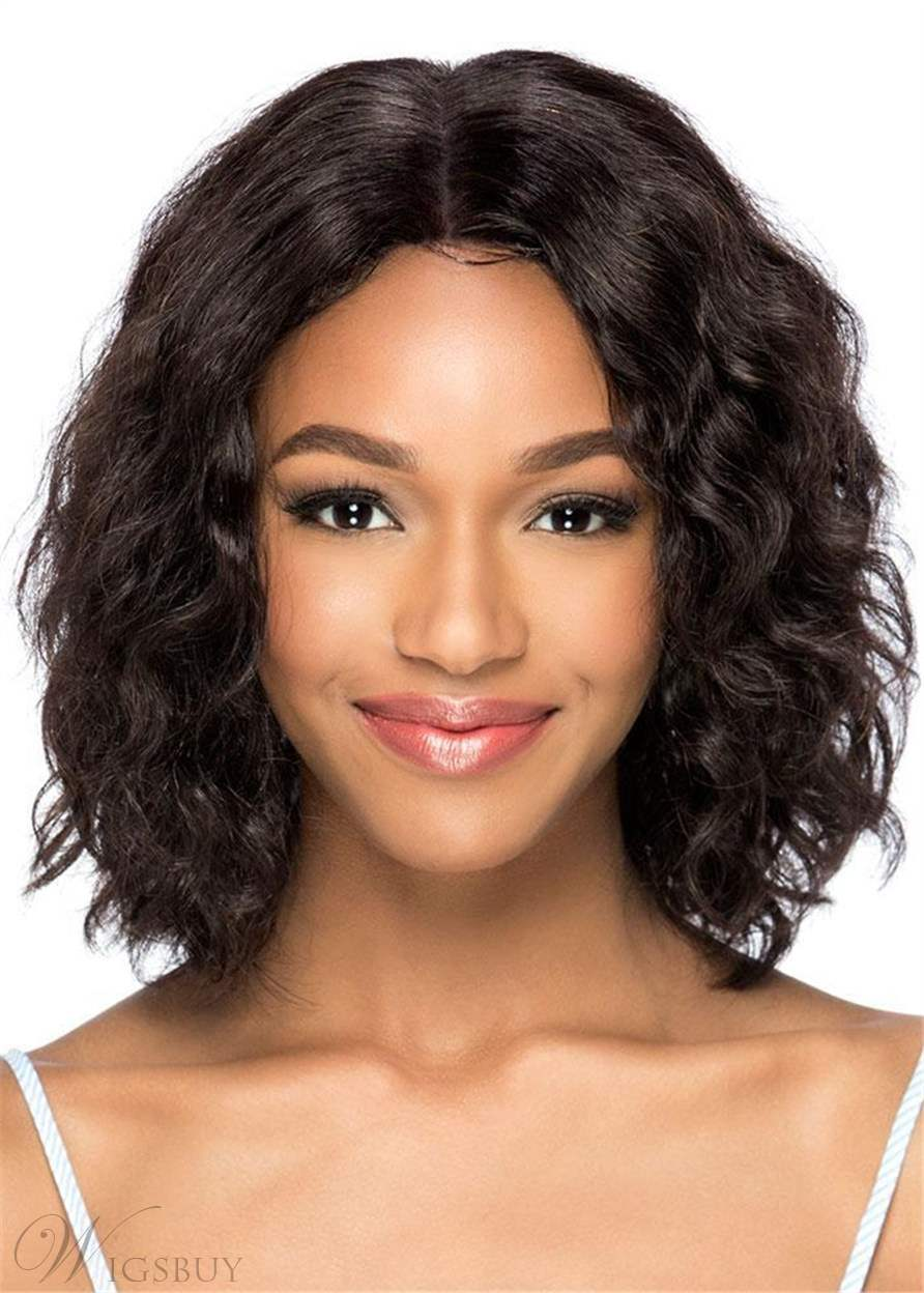 Sexy Medium Wavy Synthetic Hair Capless Wigs 14 Inches