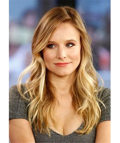 Kristen Bell Long Hair Type Side Parted Wavy Synthetic Hair Capless Wig