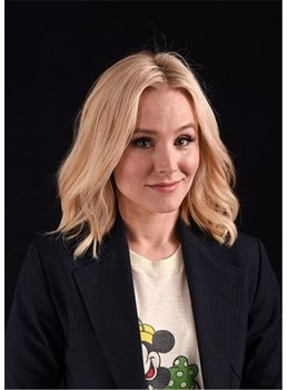 KristenBell Hairstyle Medium Bob Synthetic Hair Wavy Lace Front Wig