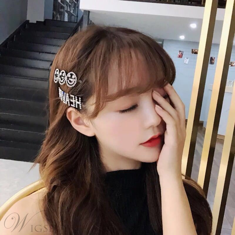 Letter Smile Diamante Shining Hairpin Hair Accessories