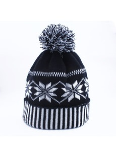 Snowflake Knit Hat