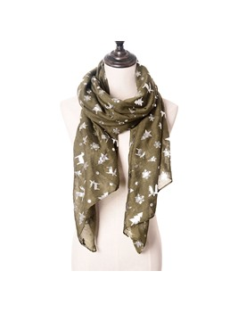 Paillette Printing Women Scarf