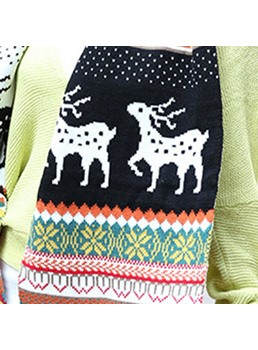 Christmas Elk Winter Scarf For Lover