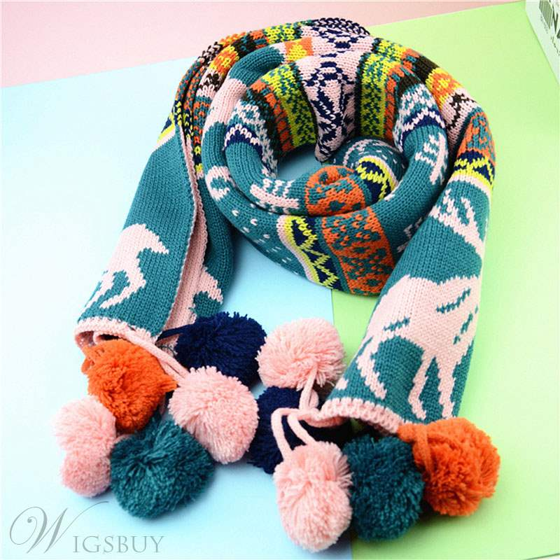 Christmas Elk Winter Colourful Scarf For Lover