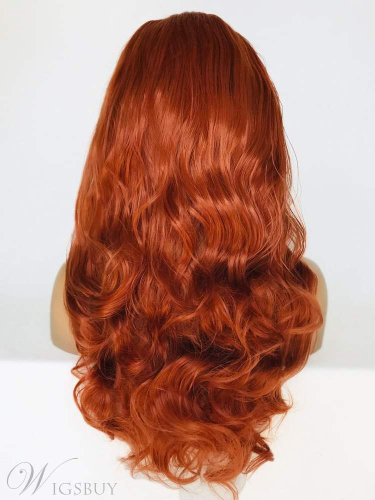 Long Loose Wave Freestyle Hair Parting Synthetic Hair Lace Front Wig