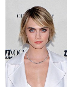 Short Layered Hairstyle Straight Synthetic Hair Women Wig 12Inches