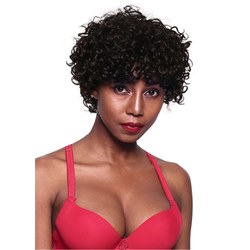African American Wigs Short Kinky Curly Synthetic Hair Wig 12 Inches