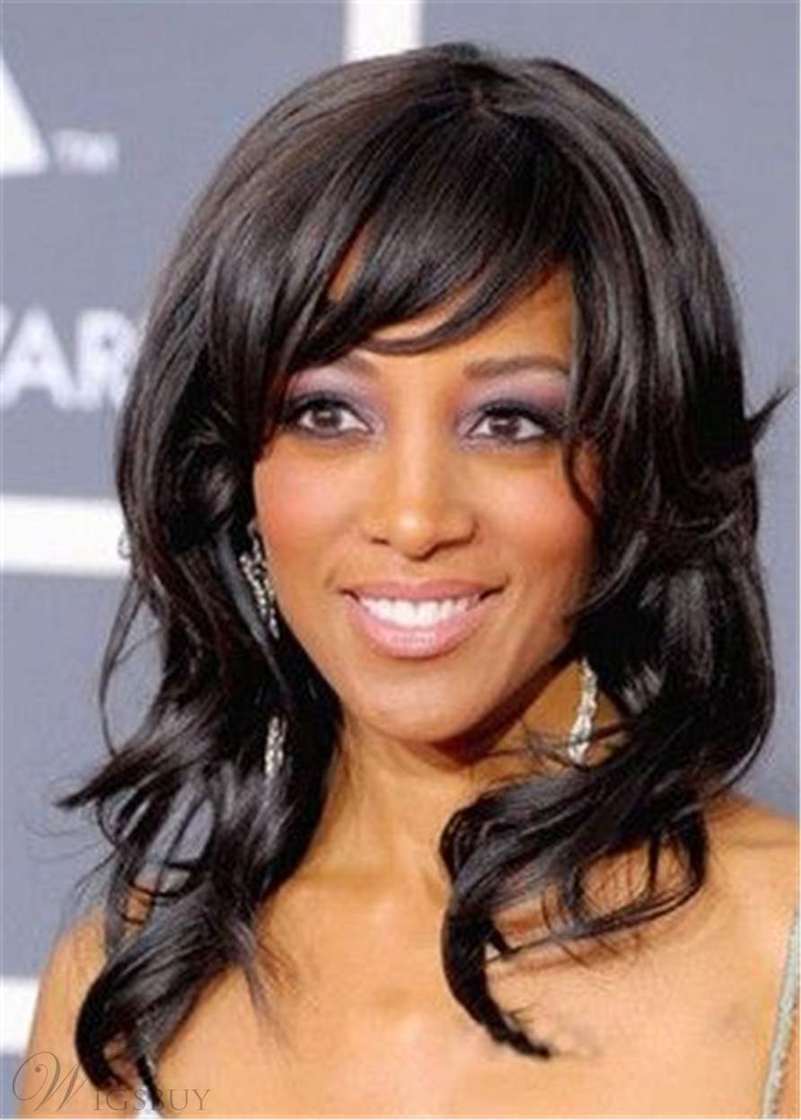 African American Wigs Long Wavy Synthetic Hair Women Wig