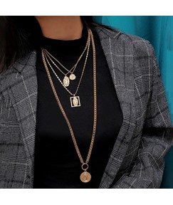 Multilayer Golden Necklace For Women