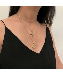 Cross&Coin Necklace